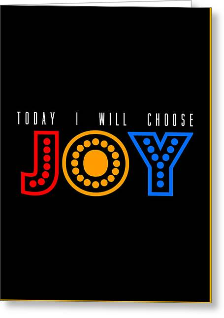 Gift Tapestries - Textiles Greeting Cards - Poster Motivational JOY Greeting Card by BestCit Art