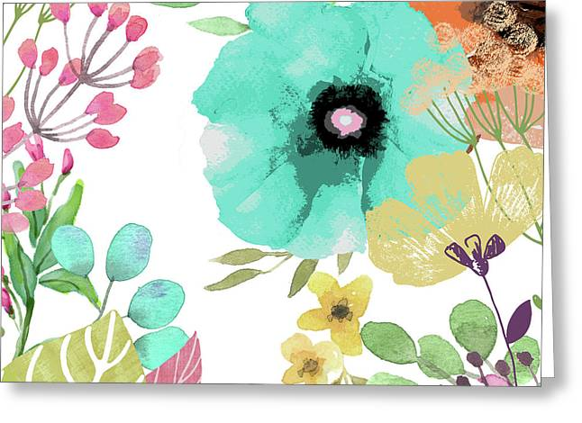 Posy II Greeting Card by Mindy Sommers