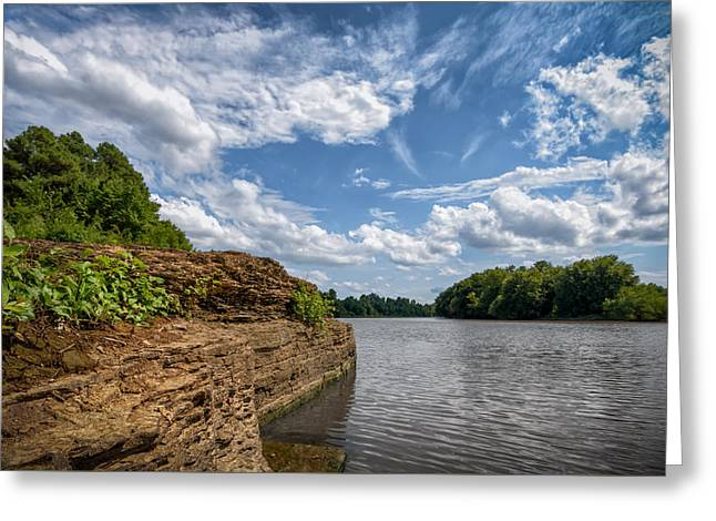 Fort Smith Greeting Cards - Poteau River Greeting Card by James Barber
