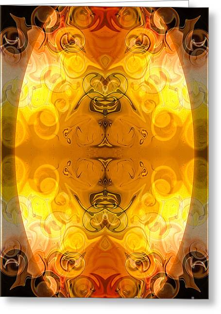 Undecided Greeting Cards - Potential Sources Of Joy Abstract Organic Art By Omaste WItkowsk Greeting Card by Omaste Witkowski