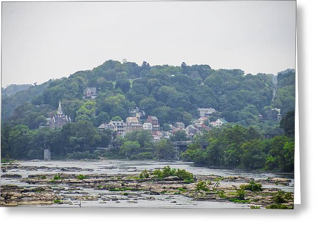 Potomac River And Harpers Ferry West Virginia Greeting Card by Bill Cannon