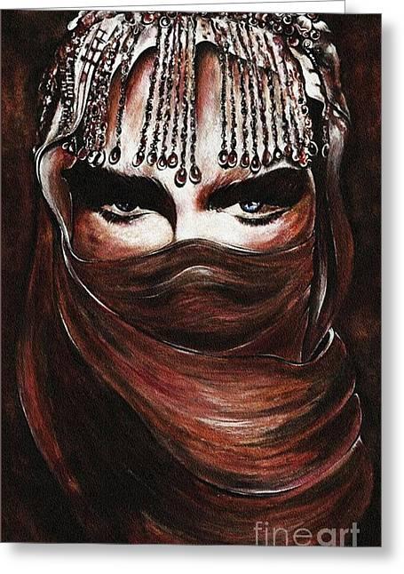 Hijab Greeting Card by Qasir Z Khan