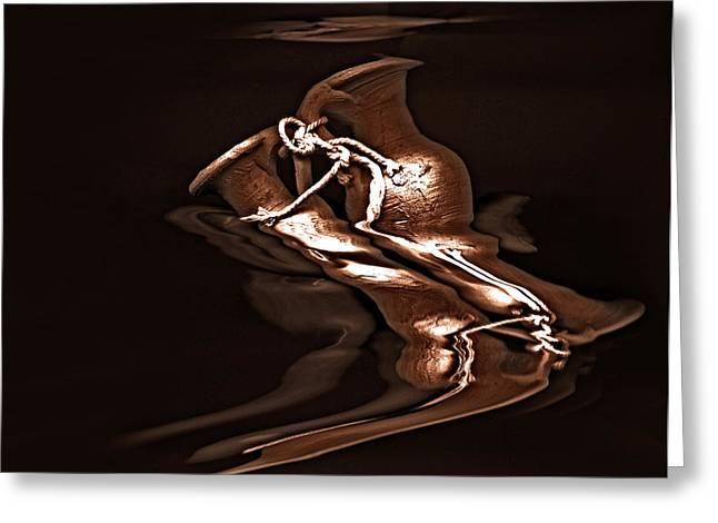 Expressionism Digital Art Greeting Cards - Pottery -  Award-Winning Image Greeting Card by Gerlinde Keating - Keating Associates Inc