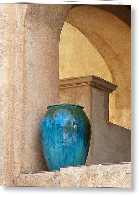 Out West Greeting Cards - Pottery and Archways Greeting Card by Sandra Bronstein