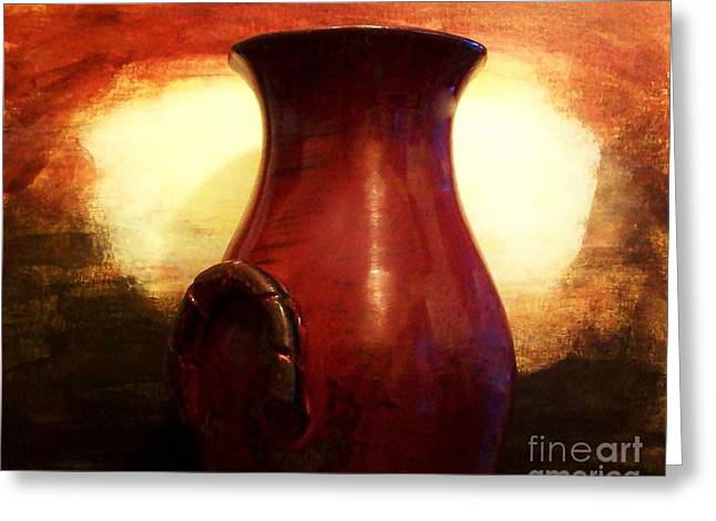 Red Barn Prints Greeting Cards - Pottery From Italy Greeting Card by Marsha Heiken