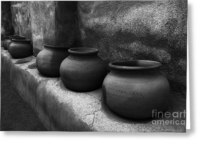 Pottery Tumacacori Arizona Greeting Card by Bob Christopher
