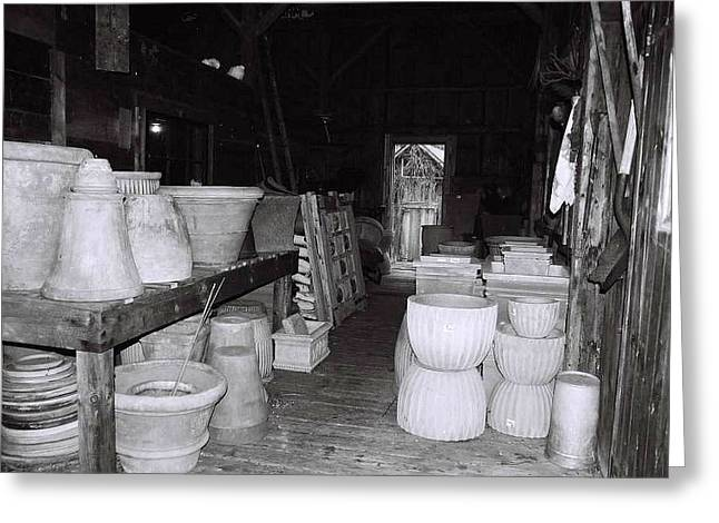 Old Maine Barns Greeting Cards - Potting Barn of Maine Greeting Card by AnnaJanessa PhotoArt