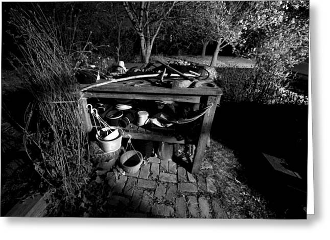 Potting Bench Greeting Cards - Potting Bench Greeting Card by Bob Schlake