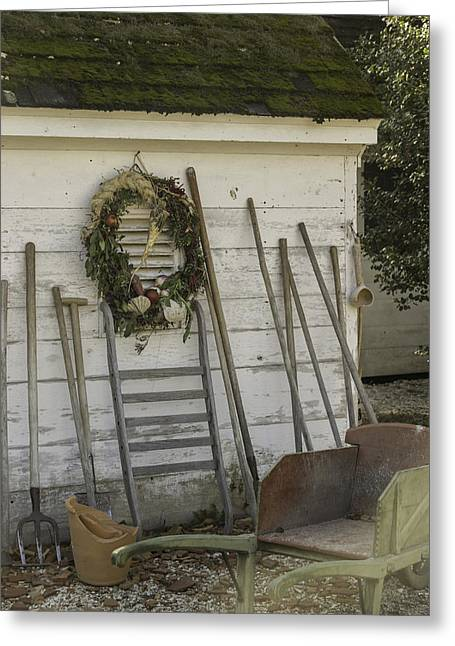 Potting Shed Vignette Greeting Card by Teresa Mucha