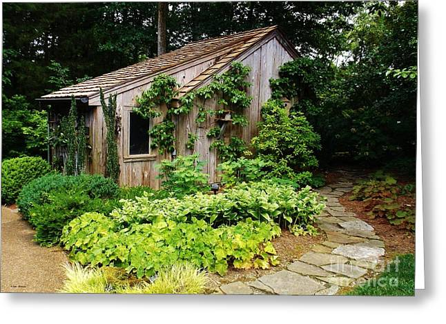 Cheekwood Gardens Greeting Cards - Potting Shed Wonderland Greeting Card by Lisa James