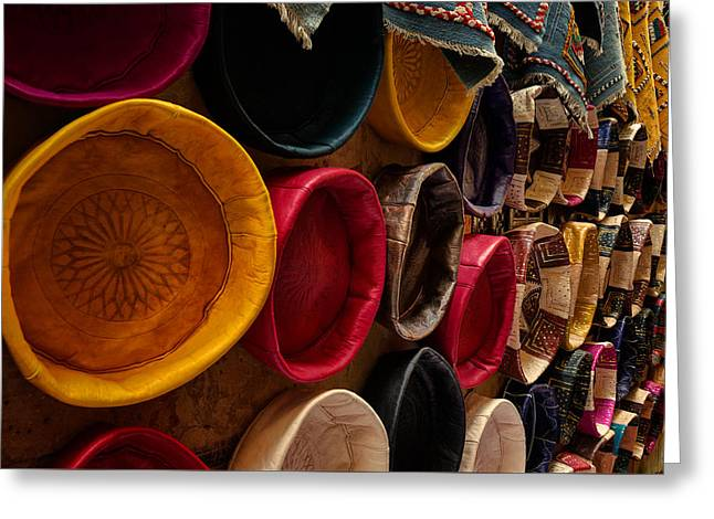 Coloured Greeting Cards - Poufs Poufs Poufs Greeting Card by Riccardo Mantero