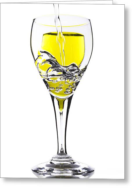 Wine Pour Greeting Cards - Pour me One Greeting Card by Donald Schwartz