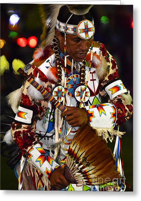 Fancy-dancer Greeting Cards - Pow Wow Beauty Of The Past 10 Greeting Card by Bob Christopher