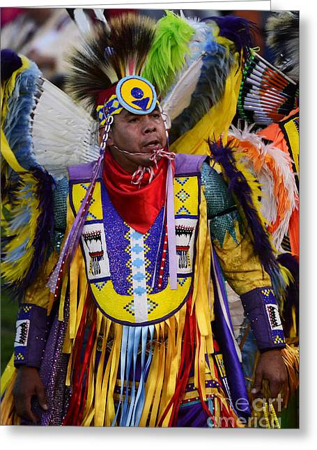 Fancy-dancer Greeting Cards - Pow Wow Beauty Of The Past 13 Greeting Card by Bob Christopher