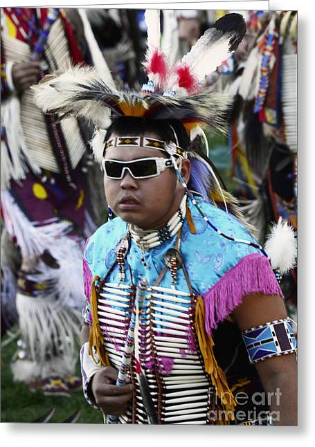 Fancy-dancer Greeting Cards - Pow Wow Beauty Of The Past 14 Greeting Card by Bob Christopher
