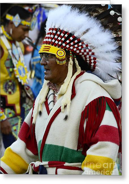 Pow Wow Beauty Of The Past 16 Greeting Card by Bob Christopher