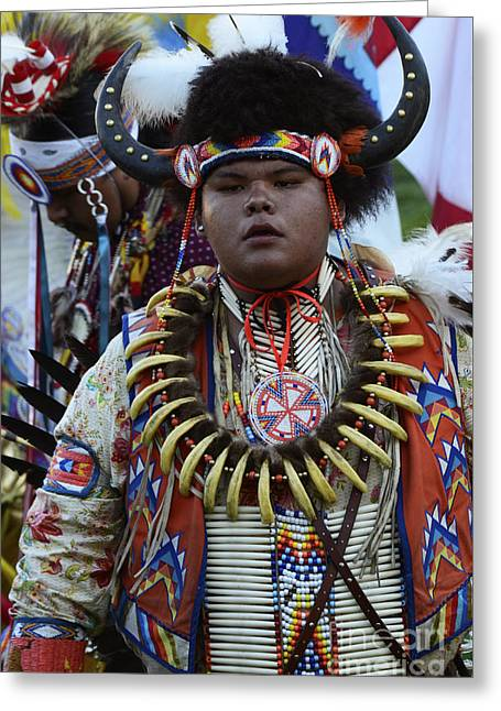 Pow Wow Beauty Of The Past 3 Greeting Card by Bob Christopher