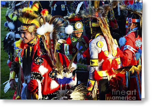 Fancy-dancer Greeting Cards - Pow Wow Beauty Of The Past 5 Greeting Card by Bob Christopher