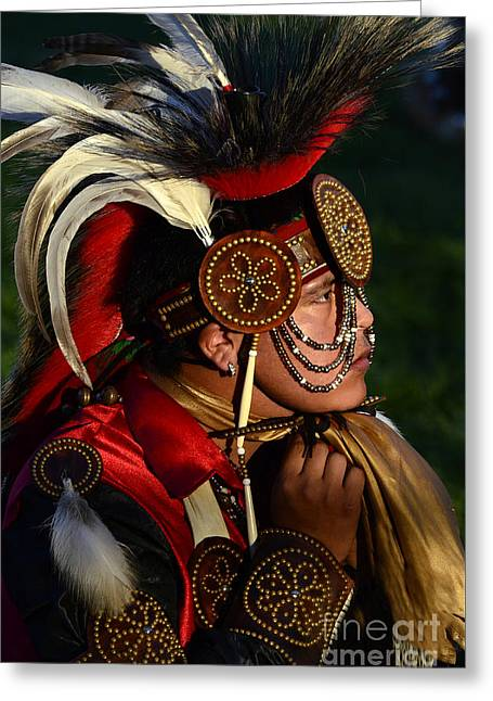 Fancy-dancer Greeting Cards - Pow Wow Beauty Of The Past 6 Greeting Card by Bob Christopher
