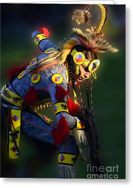 Fancy-dancer Greeting Cards - Pow Wow Beauty Of The Past 7 Greeting Card by Bob Christopher