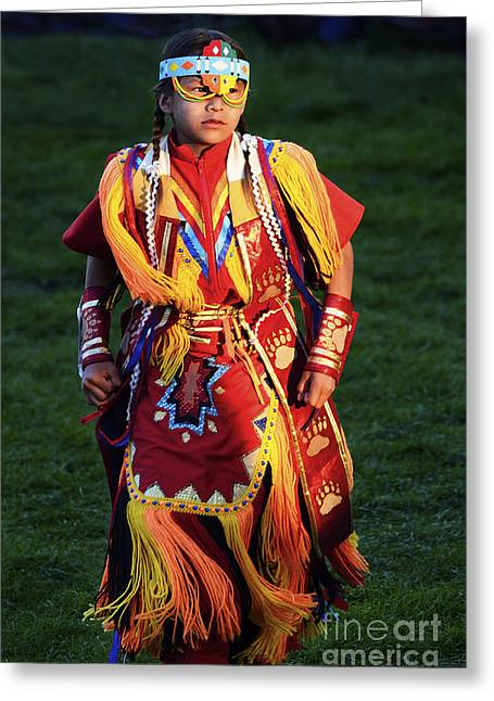 Fancy-dancer Greeting Cards - Pow Wow Beauty Of The Past 8 Greeting Card by Bob Christopher