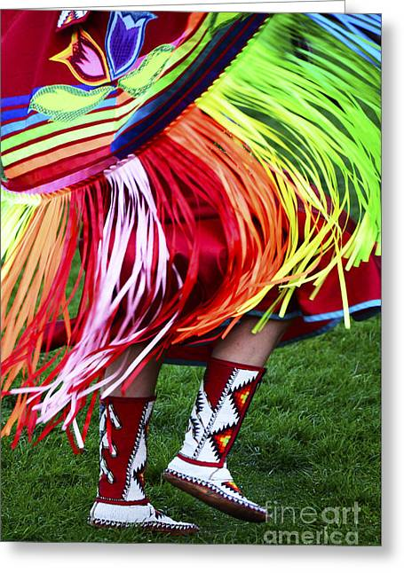 Fancy-dancer Greeting Cards - Pow Wow Beauty Of The Past 9 Greeting Card by Bob Christopher