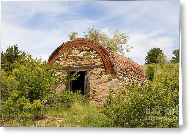 Powder Greeting Cards - Powder House for Gold Mines near Goldfield Colorado Greeting Card by Steve Krull