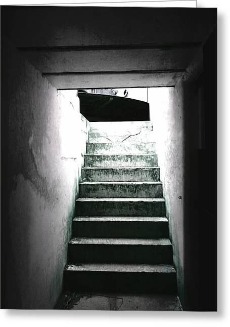 Fort Casey Greeting Cards - Powder Room Greeting Card by Jharv Tull