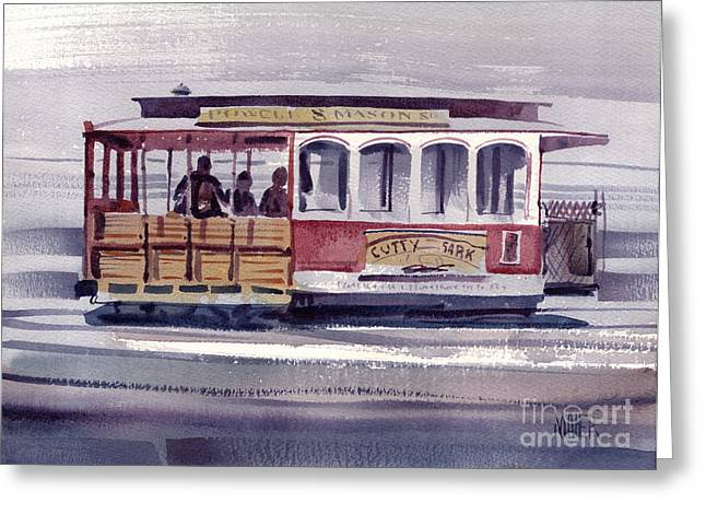 Powell Greeting Cards - Powell and Mason Line Greeting Card by Donald Maier