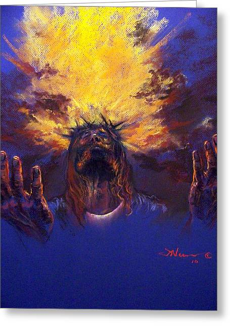Bible Pastels Greeting Cards - Power from on High Greeting Card by Tommy  Winn