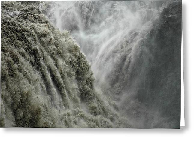 Waterfalls Greeting Cards - Power Greeting Card by Fulvio Pellegrini