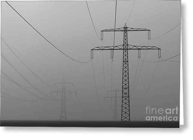 Volt Greeting Cards - Power line Greeting Card by Franziskus Pfleghart