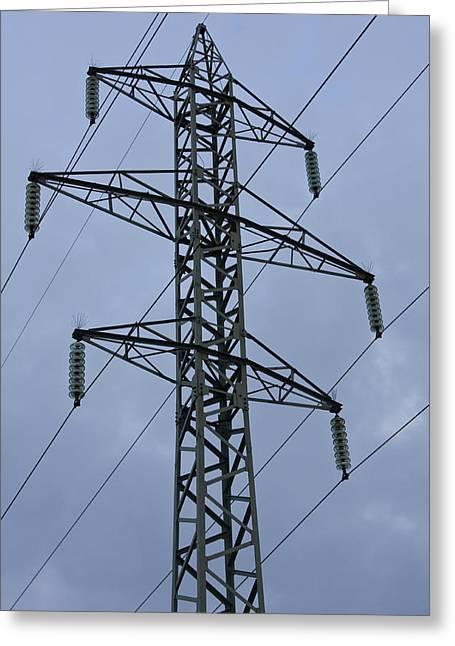 Power Lines Greeting Card by Boyan Dimitrov