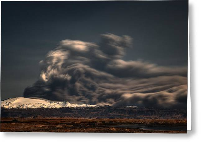 Volcano Greeting Cards - Power Of Nature Greeting Card by Raymond Hoffmann