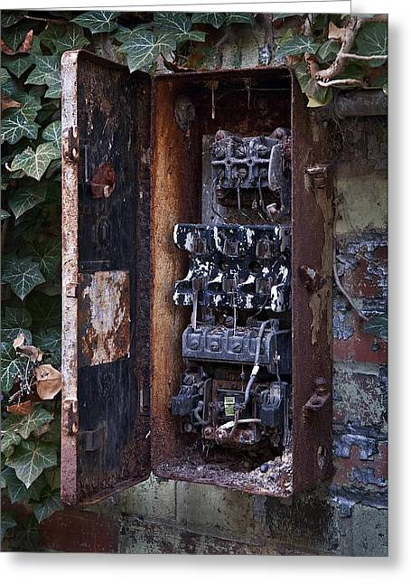 Fusebox Greeting Cards - Power Panel Greeting Card by Murray Bloom