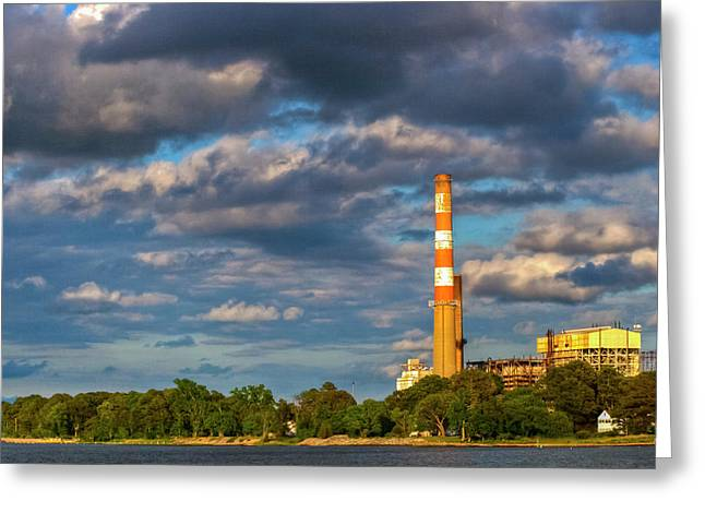 Power Plant Greeting Card by Kevin Hill