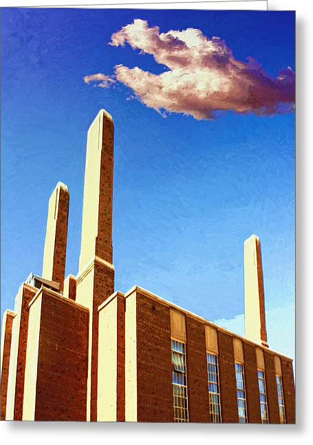 Power Station Greeting Card by Dominic Piperata