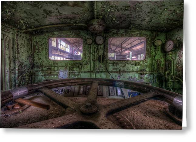 Power Station Train Greeting Card by Nathan Wright