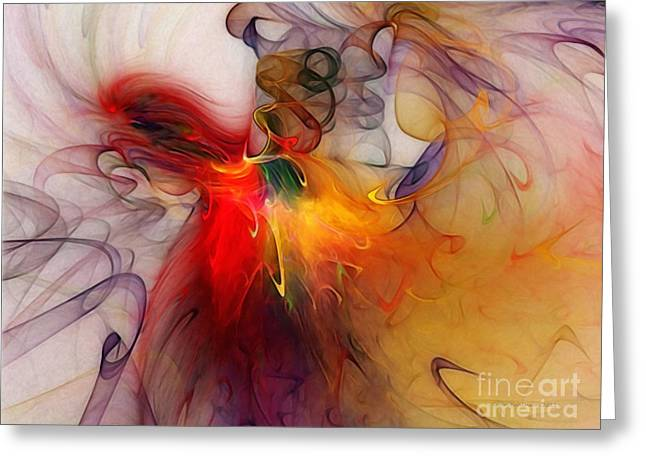 Large Sized Greeting Cards - Powers of Expression Greeting Card by Karin Kuhlmann