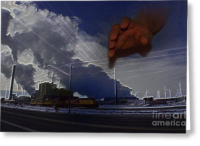 Power Plants Digital Art Greeting Cards - Powers That Be Greeting Card by The Stone Age