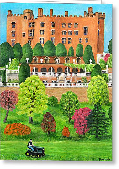 Castle Greeting Cards - Powis Castle - Wales Greeting Card by Ronald Haber