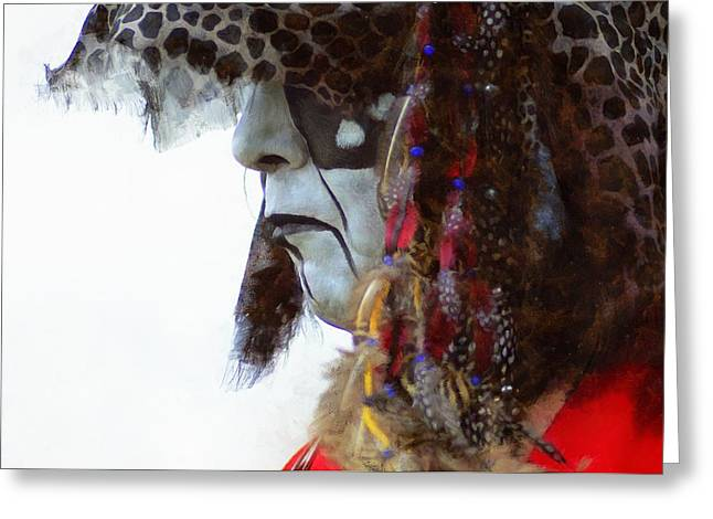 Indian Ancestry Greeting Cards - Powwow 40 Greeting Card by Cindy Nunn