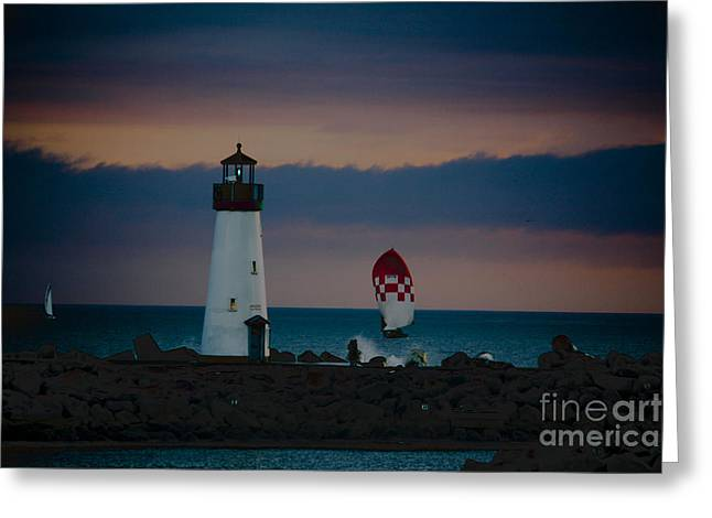 Seacape Greeting Cards - pr 203 - Evening Light Greeting Card by Chris Berry