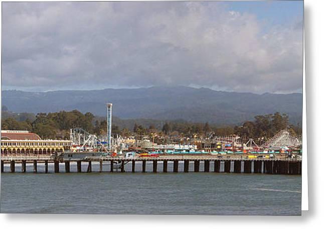Santa Cruz Greeting Cards - pr 205- The Boardwalk At Santa Cruz Greeting Card by Chris Berry