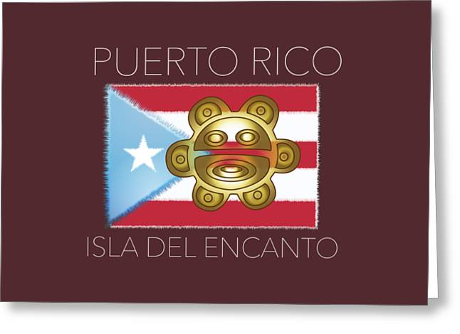 Coqui Greeting Cards - PR Isla Del Encanto Greeting Card by Daniel P Cronin