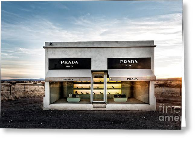 Installation Art Greeting Cards - Prada Marfa Greeting Card by Edward Fielding
