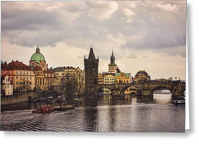 Prague 1 Greeting Card by Heather Applegate