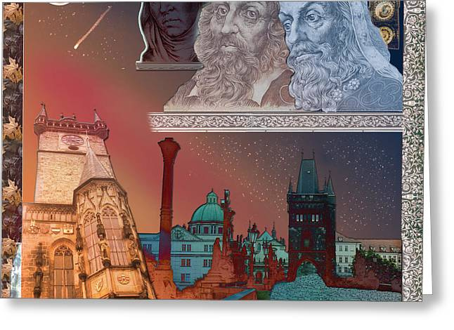 Czech Currency Greeting Cards - Prague daydream Greeting Card by John Scariano