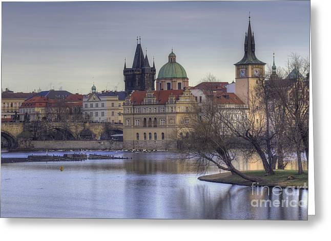 Prague Greeting Card by Juli Scalzi