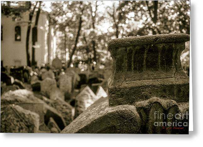 Artistic Photography Greeting Cards - Prague - Old Jewish Cemetery Greeting Card by Giuseppe Mauro Panzani